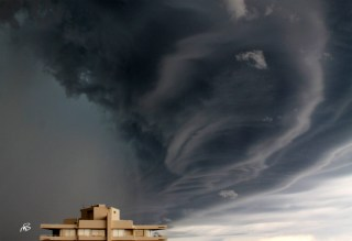 A photo of unusual cloud formations